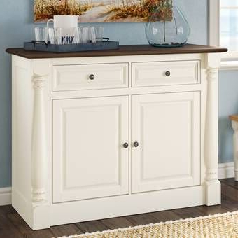 """Shipton 49"""" Wide 3 Drawer Mahogany Wood Server & Reviews Pertaining To Current Keiko 58"""" Wide Sideboards (View 22 of 30)"""
