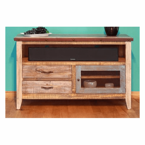 """Shirley Mills 52"""" Wide Buffet Tables For Most Up To Date Rustic Antique 52"""" Tv Stand (View 29 of 30)"""