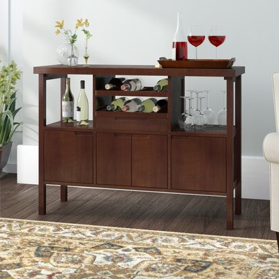 """Shirley Mills 52"""" Wide Buffet Tables With Regard To Favorite Espresso Wood Sideboards & Buffets You'll Love In  (View 2 of 30)"""