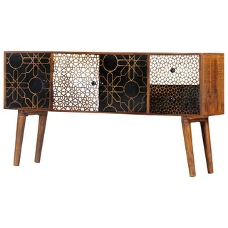 """Shop Valencia Hand Carved Mango Wood Sideboard – Overstock Intended For Favorite Northwood 72"""" Wide Mango Wood Buffet Tables (View 26 of 30)"""