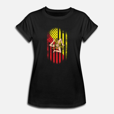 Sicilian American Flag Sicily And Usa Design Women's 3/4 Within Most Popular Walkowiak  (View 28 of 28)