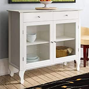 Sideboard Buffet Storage Cabinet White 42 Inch Wide With Regard To Newest Chouchanik 46 Wide 4 Drawer Sideboards (View 17 of 30)
