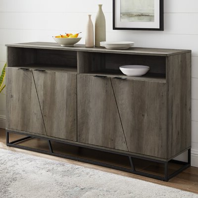 """Featured Photo of Barkell 42"""" Wide 2 Drawer Acacia Wood Drawer Servers"""