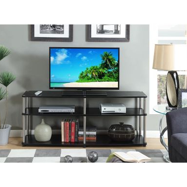 """Skofte Tv Stands For Tvs Up To 60"""" With 2020 Rent To Own Convenience Concepts Designs 2go Black (View 4 of 30)"""