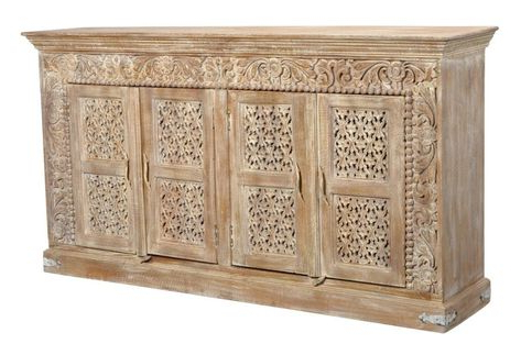 "Solid Wood Sideboard Inside Favorite Zinaida 59"" Wide Mango Wood Buffet Tables (View 24 of 30)"