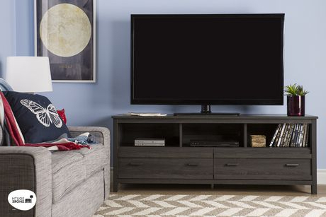 """South Shore Exhibit Tv Stand For Tv's Up To 60 Inches Inside Trendy Miah Tv Stands For Tvs Up To 60"""" (View 4 of 30)"""