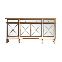 """Stovall 72"""" Wide Sideboards For Most Popular Willa Arlo Interiors Lynda 72"""" Wide 3 Drawer Rubberwood (View 17 of 30)"""