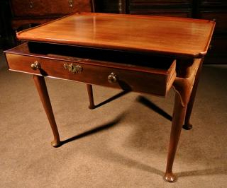 """Strine 26.75"""" Wide 2 Drawer Servers With Regard To Most Recent Fine George Ii Mahogany Silver Table C (View 2 of 30)"""