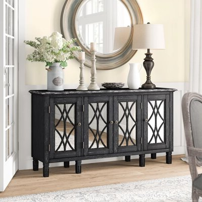 """Strock 70"""" Wide Mango Wood Sideboards Inside Most Current Farmhouse & Rustic Sideboards & Buffets (View 14 of 30)"""