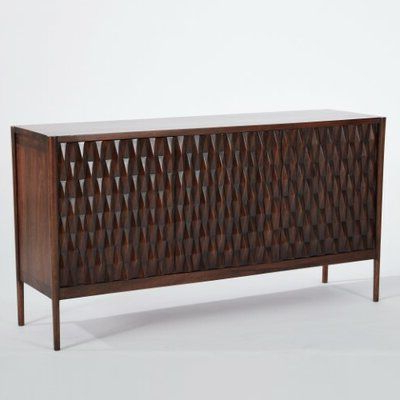 """Studio A Home Kerf 56"""" Wide Mango Wood Buffet Table In With Most Recently Released Herringbone 48"""" Wide Buffet Tables (View 29 of 30)"""
