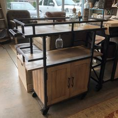 """This Stunning Bar Has Glass Holders And Railings Around Throughout Trendy Northwood 72"""" Wide Mango Wood Buffet Tables (View 10 of 30)"""