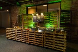 """Trendy A Burger Bar Action Station Made Entirely From Recycled Pertaining To Ogden 59"""" Sideboards (View 2 of 25)"""