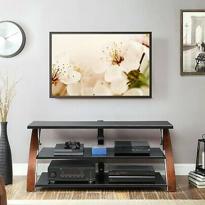 """Trendy Buckley Tv Stands For Tvs Up To 65"""" Intended For Whalen Payton Brown Cherry 3 In 1 Flat Panel Tv Stand For (View 8 of 30)"""