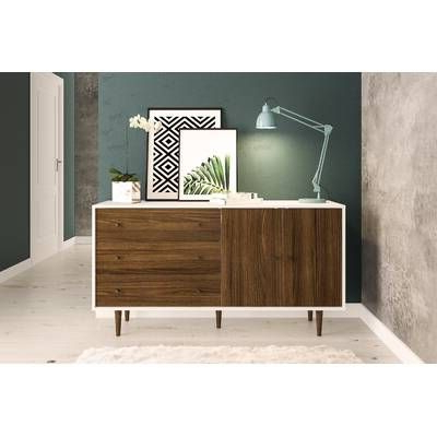 """Trendy Cora Rose 62.9"""" Wide 3 Drawer Acacia Wood Sideboards Throughout Cora Rose  (View 14 of 26)"""