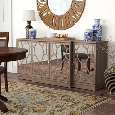 """Trendy Daisi 50"""" Wide 2 Drawer Sideboards With Mirrored Sideboard & Buffet Tables You'll Love In (View 30 of 30)"""
