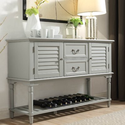 Trendy Grey Sideboards & Buffets You'll Love In  (View 5 of 30)