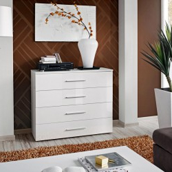 """Trendy Grieg 42"""" Wide Sideboards Throughout Bmf Stilo 2 Desser 138cm Wide 4 Drawers 2 Doors Grey (View 17 of 30)"""