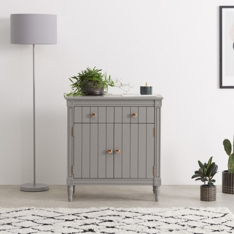 """Trendy Hargrove 72"""" Wide 3 Drawer Mango Wood Sideboards Throughout Novak Sideboard, Ash And Teal (View 9 of 30)"""