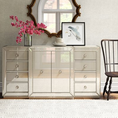 """Trendy Isra 56"""" Wide 3 Drawer Sideboards Pertaining To Sideboards & Buffet Tables (View 8 of 30)"""