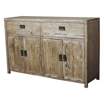 Trendy Sherwood Solid Oak Timber 4 Door 2 Drawer 140cm Sideboard Inside Chouchanik 46 Wide 4 Drawer Sideboards (View 15 of 30)