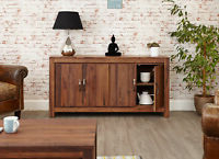 """Trendy Shiro Coffee Table Four Drawer Storage Solid Walnut Dark Within Kinston 74"""" Wide 4 Drawer Pine Wood Sideboards (View 16 of 30)"""