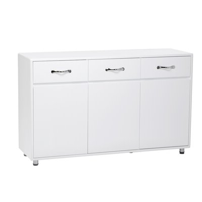 """Trendy Voight 46"""" Wide 4 Drawer Acacia Wood Drawer Servers For 36 Inch Wide Dresser (View 18 of 24)"""