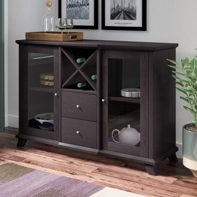 """Trendy Wine Bottle Storage Equipped Sideboards & Buffets You'll In Desirae 48"""" Wide 2 Drawer Sideboards (View 2 of 30)"""