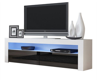 """Tv Stand Milano Classic White Body Modern 65"""" Tv Stand Led Inside Recent Binegar Tv Stands For Tvs Up To 65"""" (View 7 of 30)"""
