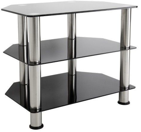 """Tv Stand With Glass For Lucille Tv Stands For Tvs Up To 75"""" (View 19 of 30)"""