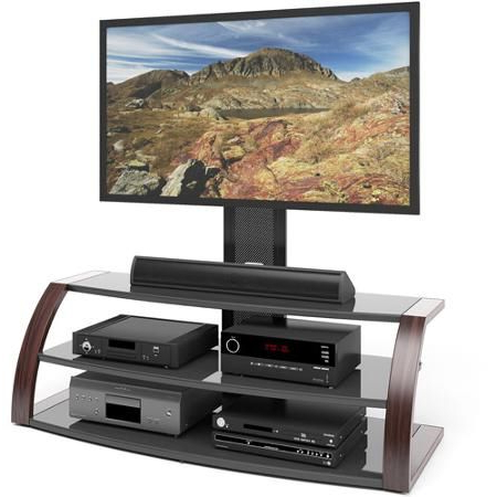 """Tv Stand With Mount, Corliving, Tv Stand Pertaining To Adalberto Tv Stands For Tvs Up To 65"""" (View 24 of 30)"""