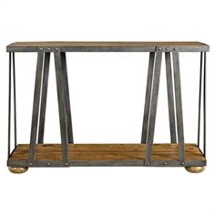 """Uttermost Console Table, Iron Pertaining To Well Known Lorraine 48"""" Wide 2 Drawer Acacia Wood Drawer Servers (View 30 of 30)"""