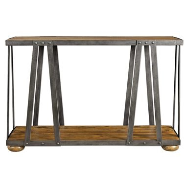 """Uttermost Console Table, Iron Throughout Most Popular Lorraine 48"""" Wide 2 Drawer Acacia Wood Drawer Servers (View 27 of 30)"""
