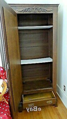 """Victorian Antique Single Door & Drawer Cupboard Pantry In Preferred Daisi 50"""" Wide 2 Drawer Sideboards (View 4 of 30)"""