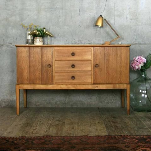 """Vintage Mid Century Furniture, Mid Century With Fashionable Findley 66"""" Wide Sideboards (View 2 of 30)"""