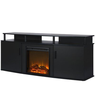 """Wade Logan Elian Tv Stand For Tvs Up To 70"""" With Fireplace Inside Best And Newest Huntington Tv Stands For Tvs Up To 70"""" (View 18 of 30)"""