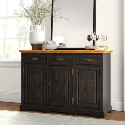 """Wayfair For Millstadt 52"""" Wide 3 Drawer Pine Wood Buffet Tables (View 9 of 30)"""