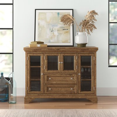 """Wayfair For Newest Voight 46"""" Wide 4 Drawer Acacia Wood Drawer Servers (View 9 of 24)"""