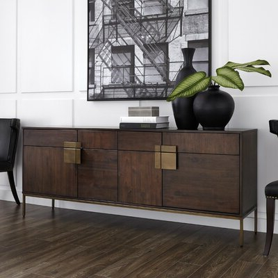 """Featured Photo of Yukon 58"""" Wide 2 Drawer Pine Wood Sideboards"""