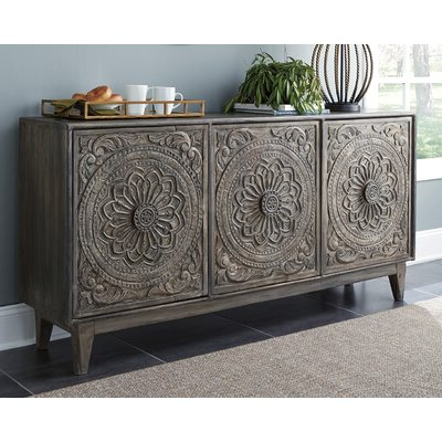 """Wayfair Throughout Westhoff 60"""" Wide 6 Drawer Pine Wood Credenzas (View 20 of 30)"""