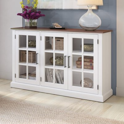 """Wayfair With Barkell 42"""" Wide 2 Drawer Acacia Wood Drawer Servers (View 30 of 30)"""