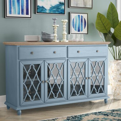 """Wayfair With Claire 70"""" Wide Acacia Wood Sideboards (View 5 of 30)"""