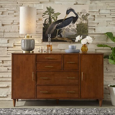 """Wayfair With Most Recent Kinston 74"""" Wide 4 Drawer Pine Wood Sideboards (View 9 of 30)"""