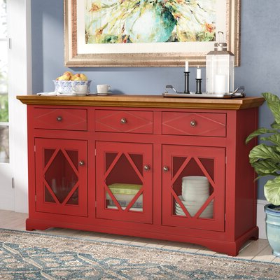 """Wayfair With Westhoff 70"""" Wide 6 Drawer Pine Wood Sideboards (View 12 of 30)"""