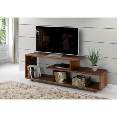 """Well Known & 60 Inch Rustic Solid Wood Asymmetrical Tv Stand Console Regarding Miah Tv Stands For Tvs Up To 60"""" (View 27 of 30)"""