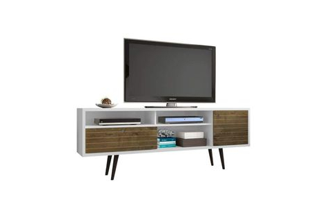 """Well Known 70.86"""" Mid Century – Modern Tv Stand W/ 4 Shelving Spaces Intended For Neuhaus (View 8 of 30)"""