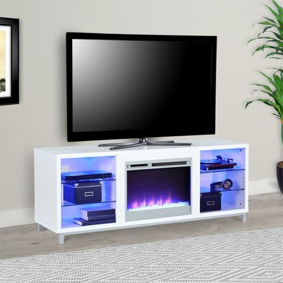 """Well Known 70 Inch And Larger White Tv Stands You'll Love In 2019 With Lederman Tv Stands For Tvs Up To 70"""" (View 15 of 30)"""