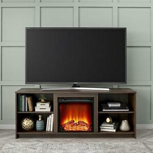 """Well Known Aaric Tv Stands For Tvs Up To 65"""" Intended For Mainstays Fireplace Tv Stand For Tvs Up To 65""""walnut Built (View 10 of 30)"""