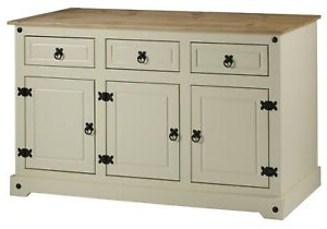 """Well Known Albright 58"""" Wide 3 Drawer Sideboards In Corona Cream Painted Large 3 Door 3 Drawer Sideboard (View 24 of 30)"""