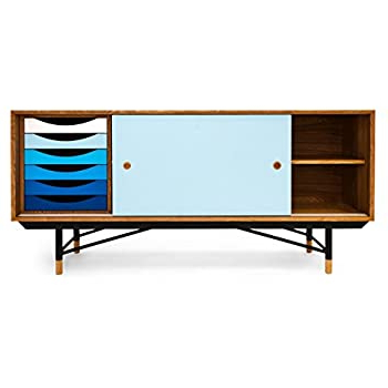 Well Known Amazon – Kardiel 1955 Color Theory Mid Century Modern Intended For Tarakan  (View 7 of 30)