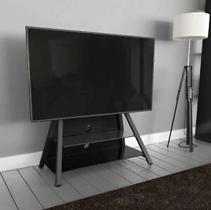 """Well Known Avf Options Easl925a Stack Black Tv Stand For 43 48 50 55 Throughout Quillen Tv Stands For Tvs Up To 43"""" (View 4 of 30)"""